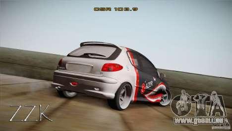 Peugeot 206 Shark Edition für GTA San Andreas linke Ansicht