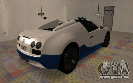 Bugatti Veyron Grand Sport Vitesse pour GTA San Andreas sur la vue arrière gauche