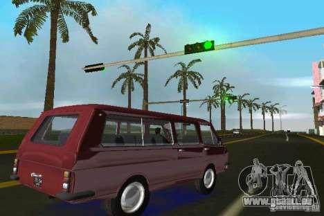 RAF 2203 pour GTA Vice City sur la vue arrière gauche