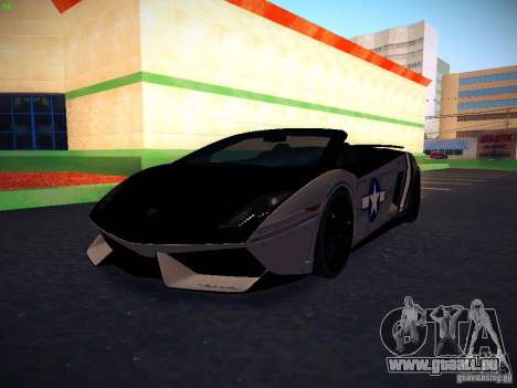 Lamborghini Gallardo LP570-4 Spyder Performante für GTA San Andreas obere Ansicht