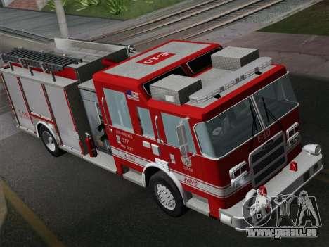 Pierce Saber LAFD Engine 10 pour GTA San Andreas vue arrière