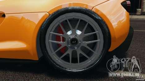 Hennessey Venom GT Spyder pour GTA 4 est une vue de l'intérieur