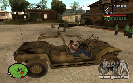 FAV-Buggy von Battlefield 2 für GTA San Andreas linke Ansicht