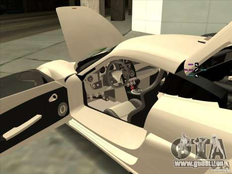 Noble M600 pour GTA San Andreas vue intérieure