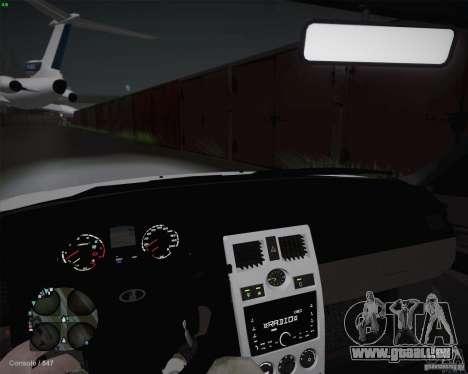 Lada 2170 pour GTA San Andreas vue intérieure