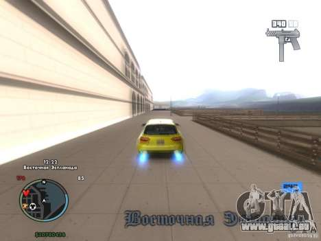 Indicateur de vitesse électronique pour GTA San Andreas troisième écran
