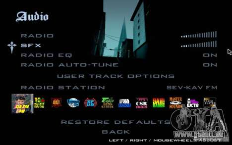 North Cove FM v1.1 pour GTA SA pour GTA San Andreas