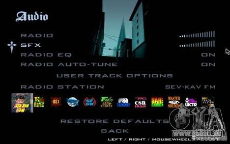 North Cove FM v1. 1 für GTA SA für GTA San Andreas