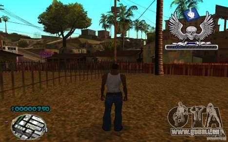 C-HUD awk William pour GTA San Andreas troisième écran