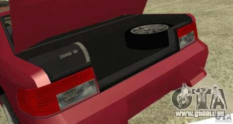 Sultan SRX für GTA San Andreas Rückansicht