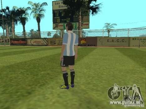 Lionel Messi pour GTA San Andreas troisième écran