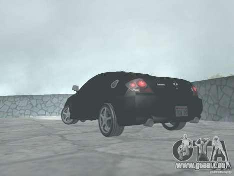 Hyundai Tiburon GT pour GTA San Andreas laissé vue