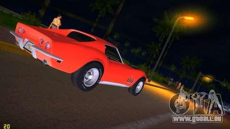 Chevrolet Corvette (C3) Stingray T-Top 1969 pour GTA Vice City vue latérale