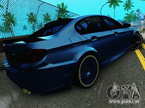 BMW M5 F10 HAMANN pour GTA San Andreas vue arrière