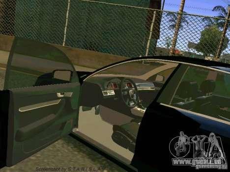 Audi A6 pour GTA San Andreas vue de dessus