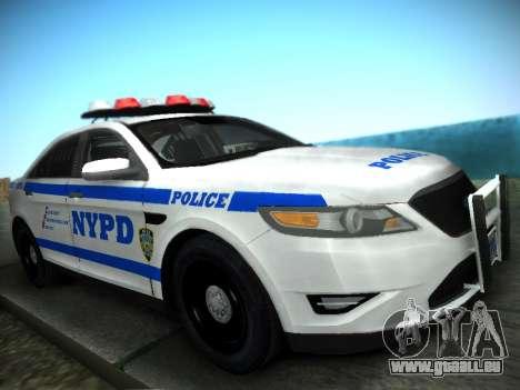 Ford Taurus NYPD 2011 für GTA San Andreas zurück linke Ansicht