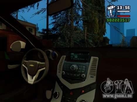 Chevrolet Cruze pour GTA San Andreas vue de dessus