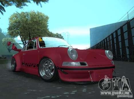 Porsche Carrera RS RWB pour GTA San Andreas sur la vue arrière gauche