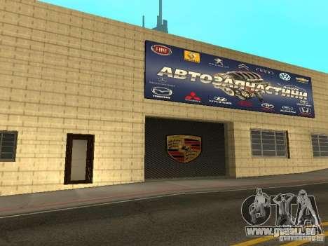 Salon de l'automobile Porsche pour GTA San Andreas huitième écran