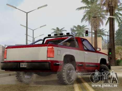 Yosemite Custom pour GTA San Andreas laissé vue