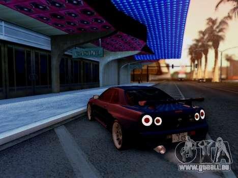 Nissan Skyline BNR34 GT-R pour GTA San Andreas laissé vue