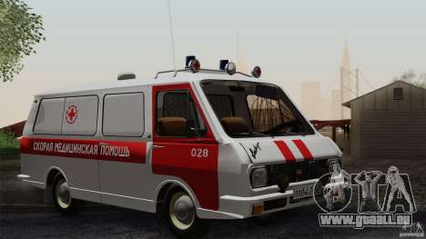 RAF 22031 Latvija Krankenwagen für GTA San Andreas obere Ansicht