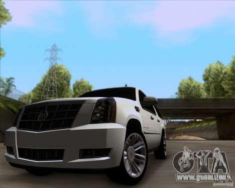 Cadillac Escalade ESV Platinum 2013 pour GTA San Andreas laissé vue