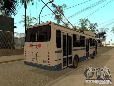 MTrZ 5279 pour GTA San Andreas sur la vue arrière gauche