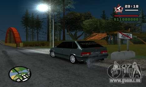 ВАЗ 2114 pour GTA San Andreas laissé vue
