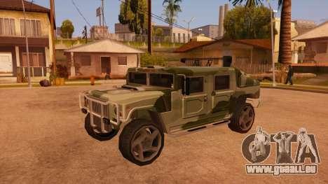 HD Patriot pour GTA San Andreas vue de dessus