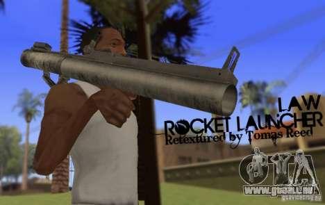 LAW Rocket Launcher Retextured pour GTA San Andreas troisième écran