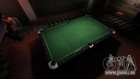 Table de billard supérieure dans la barre de 8 b pour GTA 4 quatrième écran