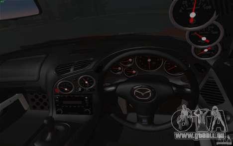 Mazda RX7 Hellalush V.2 pour GTA San Andreas vue arrière
