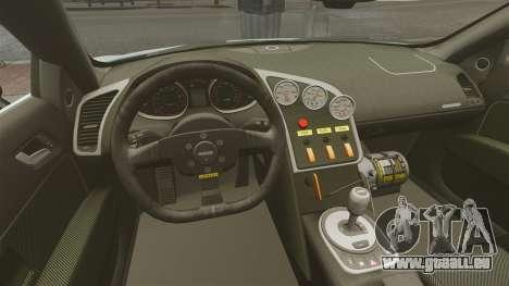 Audi R8 Spider Body Kit pour GTA 4 est une vue de l'intérieur
