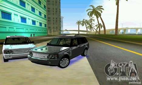 Land Rover Range Rover Supercharged 2008 pour GTA Vice City vue de dessous