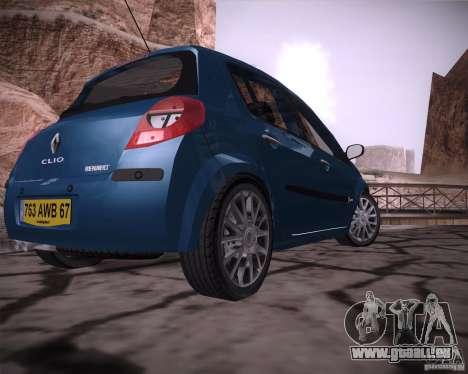 Renault Clio III pour GTA San Andreas sur la vue arrière gauche