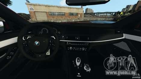 BMW M5 2012 pour GTA 4 Vue arrière