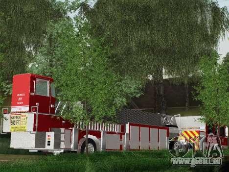 Pierce Arrow XT LAFD Tiller Ladder Truck 10 pour GTA San Andreas vue intérieure