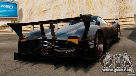 Pagani Zonda R 2009 für GTA 4 hinten links Ansicht