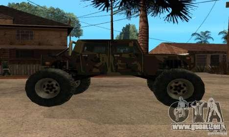 Monster Patriot pour GTA San Andreas sur la vue arrière gauche