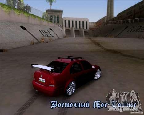 Volkswagen Jetta 2005 pour GTA San Andreas vue de dessus
