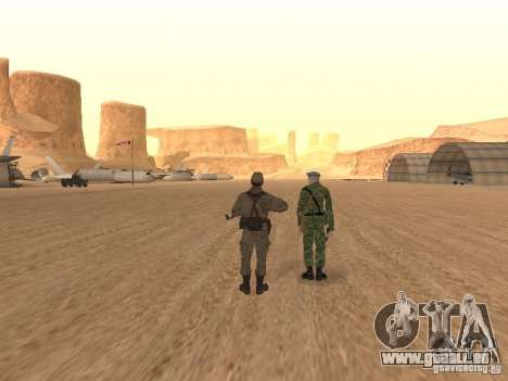 Une soldat soviétique de la peau pour GTA San Andreas cinquième écran
