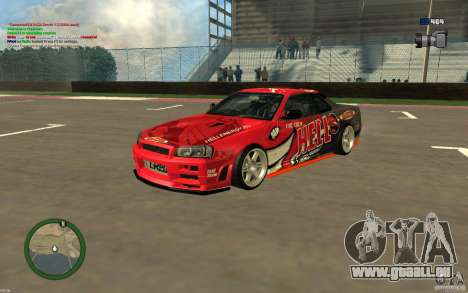Nissan Skyline R34 Hell Energy für GTA San Andreas