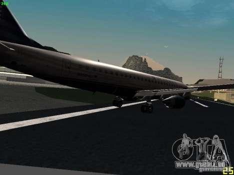 Embraer ERJ 190 USAirways für GTA San Andreas rechten Ansicht