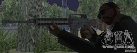 M16A4 from BF3 pour GTA San Andreas troisième écran