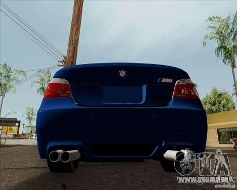 BMW M5 e60 pour GTA San Andreas vue de droite