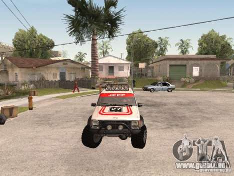 Jeep Cherokee 1984 pour GTA San Andreas vue intérieure