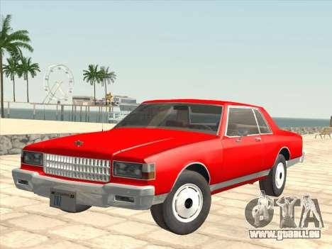 Chevrolet Caprice 1986 pour GTA San Andreas vue de côté