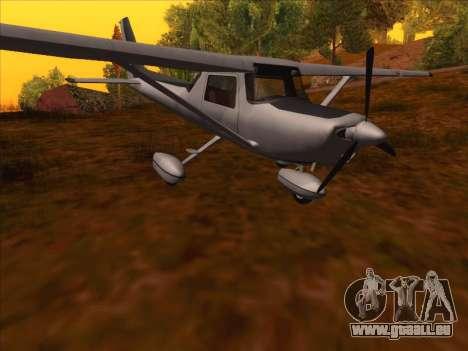 Cessna 152 v.2 pour GTA San Andreas laissé vue