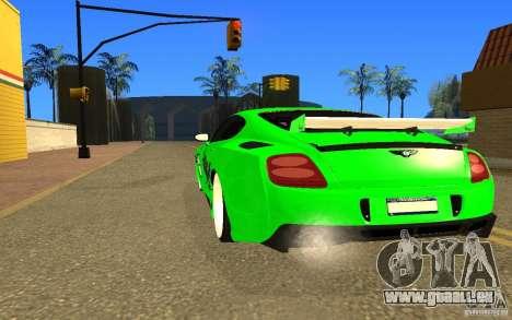 Bentley Continental GT pour GTA San Andreas laissé vue